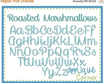 50% Off INSTANT DOWLOAD 1314 Roasted Marshmallows Font bx, jef, pes and dst only digital design for embroidery machine by Applique Corner