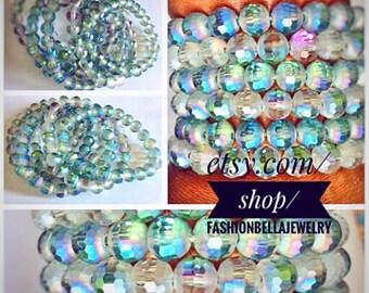 Glass beads bracelet set