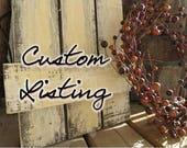 Custom Order for Tim