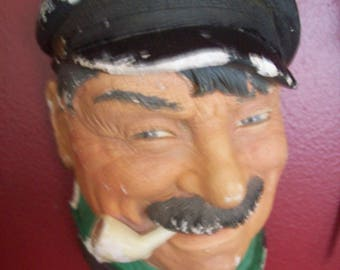 Chalk Ware Sea Captain Clearance Vintage Wall Decor