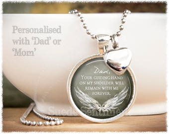 Cremation Jewelry • Loss of Father • Loss of Mother • Urn Necklace • Remembrance • Ashes Necklace