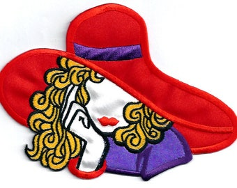 Red Hat Society - Red Hat - Fashion - Chic - Embroidered Iron On Applique Patch