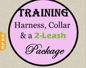 Sale - 40% Off Training No-Pull Harness, Collar & Leash Package - Available in all Dog Collar Listings - Fabric name