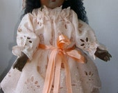 FRENCH JUMEAU TRISTE Black  Antique Reproduction 41cm Bebe   on jointed  body