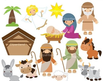 ON SALE INSTANT Download. Nativity 1. Christmas. Personal and commercial use.