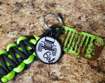 Jeep Grill Key Fob with powder coated grill