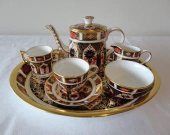 Royal Crown Derby Miniature Tea Set