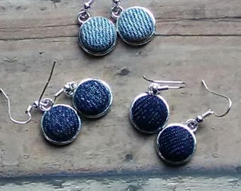 Denim Drop Signature Miniature Trio Earrings