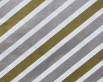 Vintage Dennison Occasional Gift Wrap - Wrapping Paper - Metallic GOLD and SILVER STRIPE - 1950s