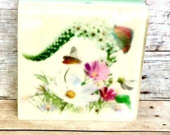 Secret Garden - Natural Soap / Gift soap/Wedding favor/ Thank you gift/Free shipping
