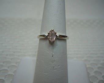 Oval Cut Pink Ceylon Sapphire Ring in Sterling Silver  #1995