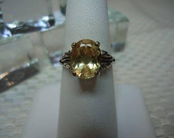 Oval Cut Labradorite Leaf Ring in Sterling Silver  #2175