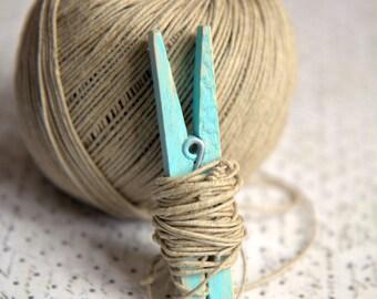 Linen ecru 10m for packing, decoration, scrap, DIY 1mm thick