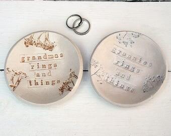 Rings and Things Ceramic Dish