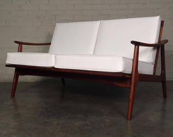 Mid-Century Danish Modern Settee / Love Seat / Sofa - Excellent Condition ~ SHIPPING NOT INCLUDED