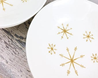"SUMMER SALE Royal China Star Glow Side Bowls 5.5"""