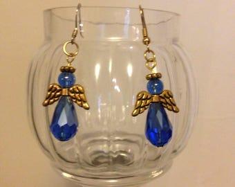 Handmade Blue Angel Earrings