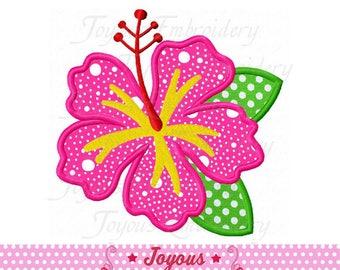 Instant Download Hibiscus Applique Machine Embroidery Design NO:2342