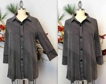 New Textured Jacquard Gorgeous, Artsy, Chic and Dressy Jacket for any season. Medium to 3XL