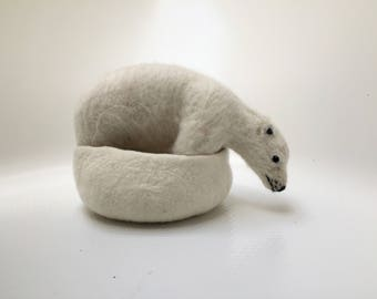 In Need of More Iceberg, Felted Polar Near and Bowl