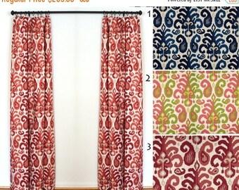 Curtains 2 Curtain Panels Draperies Window Treatments Duralee Rasul Berry