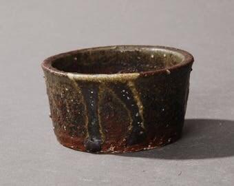 Mini Bonsai pot. Dark green #2