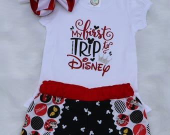 Disney shirt and shorts