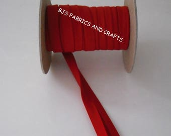 """Double Fold Bias Tape EXTRA WIDE 1/2"""" Dark RED 12 Yards Wholesale"""