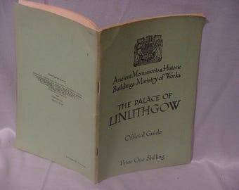 1940s Guide Book The Palace of Linithgow