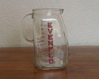 Vintage Glass Milk Pitcher Evenflo Baby 4 Cups