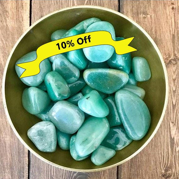 Tumbled Green Aventurine, Tumbled Gemstones, Natural Green Aventurine, Green Aventurine Crystal, Polished Stones, Green Crystals