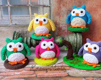Crochet Owl amigurumi.Crochet owl toy.