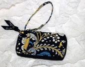 Vera Bradley Wristlet Wallet Phone Case Combo   - Blue Yellow White  - Retired Pattern