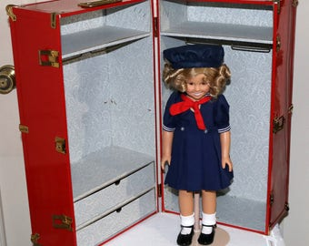 "Vintage Danbury Mint Shirley Temple Dress Up Doll and Trunk - Excellent Condition - 16"" Shirley Temple Doll - Poor Little Rich Girl"