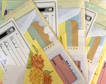 Vintage Junk Journal Supplies*Variety Blank Paper Pack*46 Sheets Graph Ledger Lined Notebook Stationery