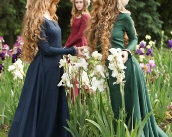 """DISCOUNTED PRICE! Bridesmaid Gown; Linen Dress; Women's Dress """"Secret Garden"""""""