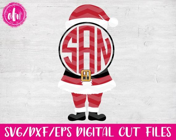 christmas monogram santa svg dxf eps cut file santa u0026 39 s