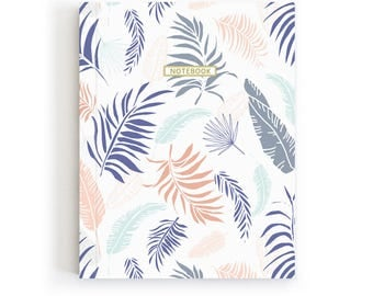 Botanical Journal, Stationery Addict Gift, Tropical Notebook, Modern Notebook, Minimalist Diary, Modern Nature Notebook, Bullet Journal