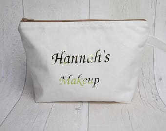 Personalised makeup bag/ travel bag/ wash bag