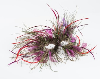 Lord Of  the Dance - Couture Feather Mask