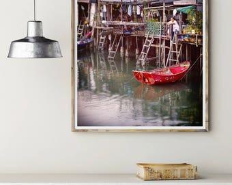 Hong Kong Art Print,Wall Art,Photography Art Print,Asian Art,Fishing Village