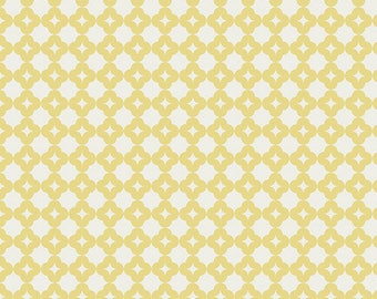 White Circles on Yellow/Art Gallery Fabrics,  AGF/Cotton Sewing Material/Quilting, Clothing, Craft Cotton/Fat Quarter, Half or, By the Yard