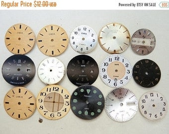 ON SALE Vinage Watch Faces - set of 15 - c132