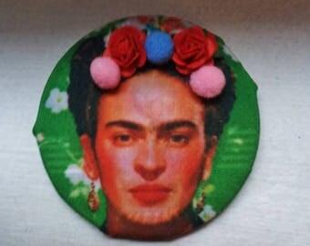 Brooch frida kahlo 5.5 cm handmade