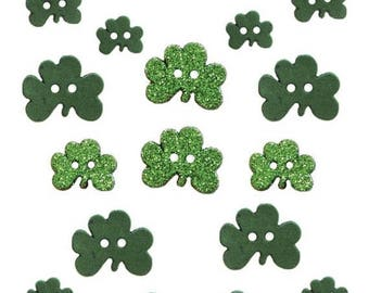 25% OFF SALE Shamrocks St Patrick's day Buttons