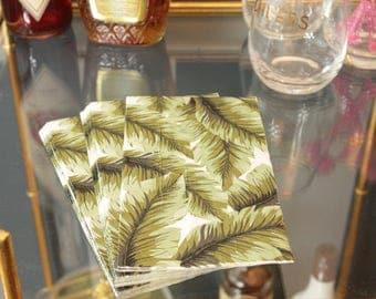 Palm Leaf Paper Guest Towel or Dinner Napkins