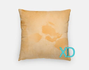 Orange Watercolor Pillow, Orange Pillow Cover, Paint Design Pillow Case, Watercolor Design, Orange Home Decor, Decorative Pillow Case, Sham