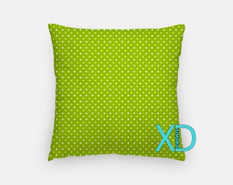 Olive Dot Pillow, Spotted Pillow Cover, Speckled Pillow Case, White, Green Pillow, Artistic Design, Home Decor, Decorative Pillow Case, Sham