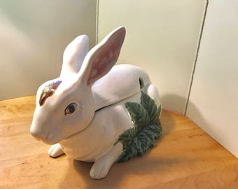 Portuguese Bordallo Rabbit Tureen