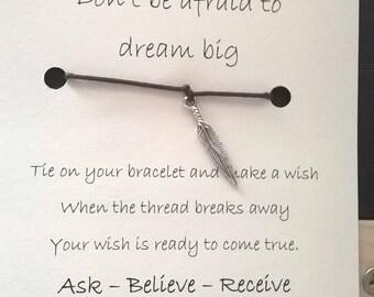 Dream Big Wish Bracelet Card